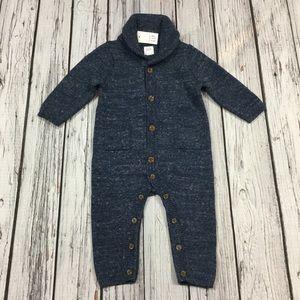 Gap Boys 3 6 12 18 Month Blue Sweater Romper